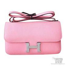 Hermes Constance Elan 25 Bag 1q Rose Confetti Epsom PHW