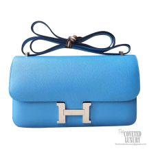 Hermes Constance Elan 25 Bag 2t Blue de Paradise Epsom PHW