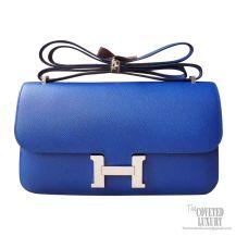 Hermes Constance Elan 25 Bag 7t Blue Eletric Epsom PHW