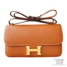 Hermes Constance Elan 25 Bag ck37 Gold Epsom GHW