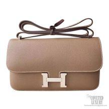 Hermes Constance Elan 25 Bag ck18 Etoupe Epsom PHW
