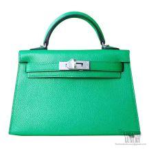 Hermes Mini Kelly II Bag 1k Bambou Epsom PHW