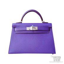 Hermes Mini Kelly II Bag 9w Crocus Epsom PHW