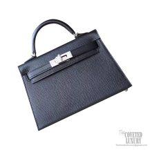 Hermes Mini Kelly II Bag ck89 Noir Epsom PHW