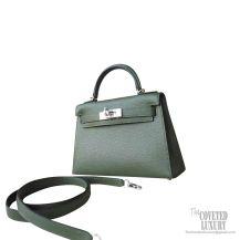 Hermes Mini Kelly II Bag v6 Canopee Chevre PHW