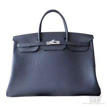 Hermes Birkin 40 Bag ck89 Noir Togo Calfskin SHW