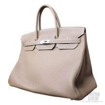 Hermes Birkin 40 Bag ck18 Etoupe Togo Calfskin SHW