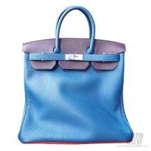 Hermes Birkin Hac 40 Bag Multicolored 7w Blue Izmir Clemence Calskin SHW