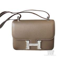 Hermes Constance 23 Bag Etoupe Epsom SHW