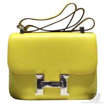 Hermes Constance 23 Bag Soufre C9 Epsom SHW