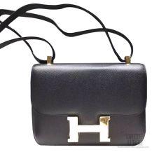 Hermes Constance 23 Bag Black Noir Epsom SHW