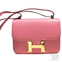 Hermes Constance 23 Bag Pink Epsom GHW