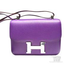 Hermes Constance 23 Bag Crocus 9W Epsom SHW