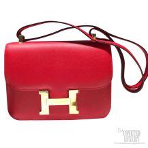 Hermes Constance 23 Bag Rouge Casaque Q5 Epsom