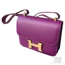 Hermes Constance 23 Bag Anemone P9 Epsom