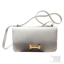 Hermes Constance Elan 25 Bag Blanc Epsom