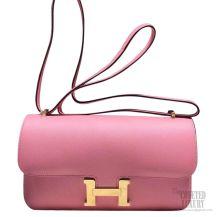 Hermes Constance Elan 25 Bag Rose Confetti 1Q Epsom GHW
