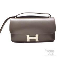 Hermes Constance Elan 25 Bag Graphite Tadelakt SHW