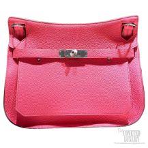 Hermes Jypsiere 34 Large Bag Rose Lipstick U5 Clemence