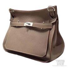 Hermes Jypsiere 34 Large Bag Etoupe CK18 Taurillon Clemence