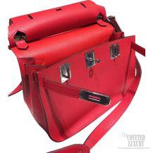Hermes Jypsiere 34 Large Bag Rouge Casaque Q5 Clemence