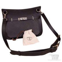 Hermes Jypsiere 34 Large Bag Black Taurillon Clemence