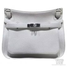 Hermes Jypsiere 34 Large Bag White Taurillon Clemence