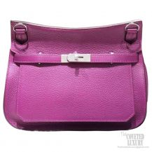 Hermes Jypsiere 34 Large Bag Anemone P9 Taurillon Clemence