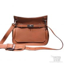 Hermes Jypsiere 34 Large Bag Gold Taurillon Clemence
