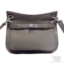 Hermes Jypsiere 34 Large Bag Iron Gray Taurillon Clemence
