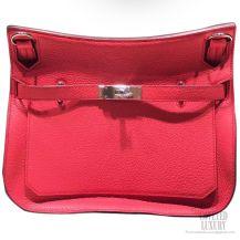 Hermes Jypsiere 34 Large Bag Rose Jaipur T5 Taurillon Clemence