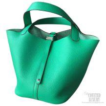 Hermes Picotin Lock 22 Bag Menthe 6W Taurillon Clemence