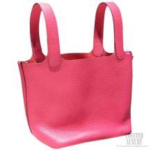 Hermes Picotin Lock 22 Bag Rose Lipstick Taurillon Clemence