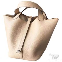 Hermes Picotin Lock 22 Bag Beige Taurillon Clemence