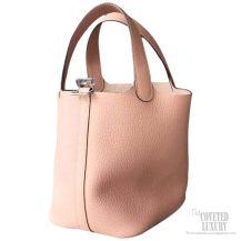 Hermes Picotin Lock 22 Bag Nude Pink Taurillon Clemence
