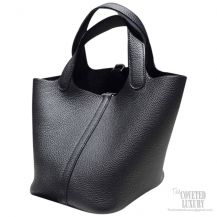 Hermes Picotin Lock 22 Bag Black Taurillon Clemence