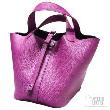 Hermes Picotin Lock 22 Bag Anemone P9 Taurillon Clemence