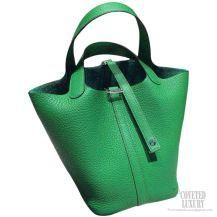 Hermes Picotin Lock 22 Bag Bambou 1K Taurillon Clemence