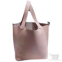 Hermes Picotin Lock 22 Bag Pale Pink Taurillon Clemence