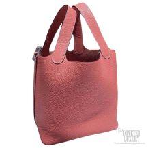 Hermes Picotin Lock 22 Bag Pink Taurillon Clemence