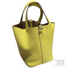 Hermes Picotin Lock 22 Bag Soleil 9H Taurillon Clemence