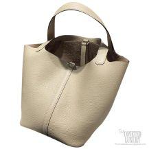 Hermes Picotin Lock 22 Bag Parchemin 3C Taurillon Clemence
