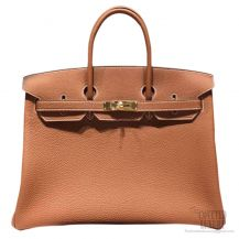 Hermes Birkin 35 cm Togo Bag Gold GHW