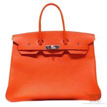Hermes Birkin 35 cm Togo Bag Orange CK93 SHW