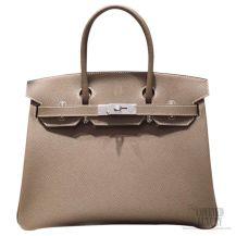 Hermes Birkin 35 Bag Etoupe Epsom SHW