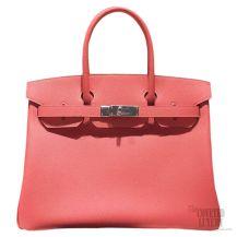 Hermes Birkin 35 Bag Flamingo I5 Epsom SHW
