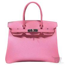 Hermes Birkin 35 Bag Pink 5P Epsom SHW