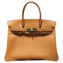 Hermes Birkin 35 Bag Gold CK37 Epsom GHW