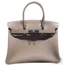 Hermes Birkin 35 Bag Gris Tourterelle CK81 Togo SHW