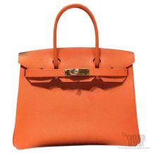 Hermes Birkin 35 Bag Orange CK93 Epsom GHW